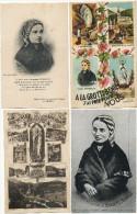 Ensemble De 9 Cp Bernadette Soubirous Lourdes Souers De La Charité Nevers - Cristianesimo