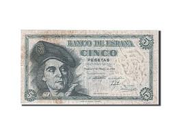 [#258572] Espagne, 5 Pesetas, Type Juan Sebastian Elcano - [ 3] 1936-1975 : Régence De Franco