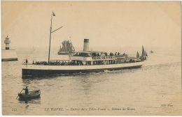 Le Havre 232 Entrée Du Felix Faure Bateau De Rouen - Paquebots