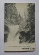 Carte Ancienne CHOCOLAT KLAUS - Cascades Des Gorges Du Gorner ZERMATT - SUISSE - Werbepostkarten