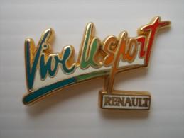 Pin´s - Arthus Bertrand - Renault . Vive Le Sport - Arthus Bertrand