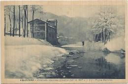 Calizzano, Savona 2.9.1930, Rinomata Stazione Climatica. Fiume Bormida Sotto La Neve. - Savona