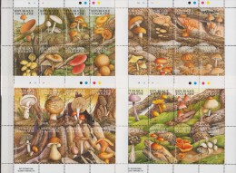 Togo.1995.4 Sheetlets.32v.Mushroom.Michel.2324-55 MNH.22 - Paddestoelen