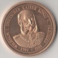 Medaille Münze Medal Coin Piece Monnaie Wilhelm I Deutscher Kaiser König Erste Deutsche Kaiserkrönung Versailles 1871 - [ 2] 1871-1918: Deutsches Kaiserreich