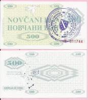MONEY COUPON (NOVČANI BON) 500 DINARA, - UNC, Handstamp Sarajevo, Seria M 1992., Bosnia And Herzegovina - Bosnia Erzegovina