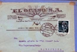 2652 Frontal  Comercial Ocaso 1956 Lorca Murcia - 1951-60 Storia Postale