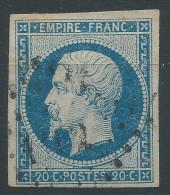 Lot N°28663    N°14A, Oblit PC 1102 DIJON (20), Belles Marges - 1853-1860 Napoléon III.