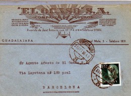 2652 Frontal  Comercial Ocaso  1956 Guadalajara - 1951-60 Storia Postale
