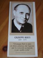 Testimone GIUSEPPE BERTI Laico-Mortara,Pavia/BORGONOVO Val Tidone,Piacenza/RESISTENZA/FUCI/liceo Manin Cremona. brochure