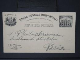 Détaillons Collection D Entiers Postaux De Divers Pays -PEROU  -E.P De Lima Pour Paris  En 1907  Lot P4302 - Peru