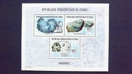 Kongo (Kinshasa) 1767/9 A KB ++ Mineralien (Aurichalcit, Bornit, Diamant) - República Democrática Del Congo (1997 - ...)