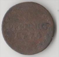 Kupfer ? 1 Pfennig 1774 C Münze Coin Piece Monnaie Kursmünze Preussen Sachsen Bayern Württemberg Baden ? - [ 1] …-1871: Altdeutschland