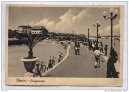 RIMINI - 1940 - LUNGOMARE  - FORMATO GRANDE - Rimini
