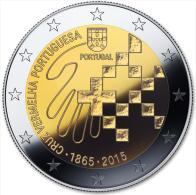 "PORTUGAL  2 € 2.015   2015 Bimetálica  SC/UNC  ""150 Años De La CRUZ ROJA En Portugal""  T-DL-11.336 - Portugal"