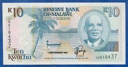 Malawi 10 Kwacha 1992 Pick 25b UNC - Malawi