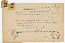 ALLIER 1945 TELEGRAMME OFFICIEL CENTRE PG DE MOULINS SUJET PRISONNIER STALAG 7A => DIRECT PG PARIS - 2. Weltkrieg 1939-1945