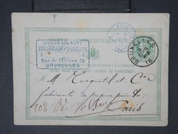 """Détaillons Collection D Entiers Postaux De Divers Pays -BELGIQUE-E.P   Cad Entréé 3 Belg /VALENC 1877 """"en  Bleulot P4319 - Poststempel (Briefe)"""