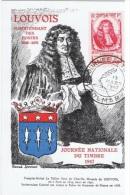 JT-L11 - FRANCE Carte Maximum Journée Du Timbre Louvois Colmar 1947 - Côte 30 € - France