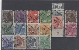 SBZ Handstempel Michel No. 166 - 181 ** postfrisch Bezirk 41 Glauchau / Altpr�fung