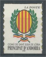 Andorra (French Adm.), Sant Julia De Loria, Coat Of Arms, 2001, MNH VF - French Andorra