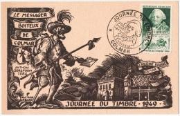 JT-L19 - FRANCE Carte Journée Du Timbre Colmar 1949 - France