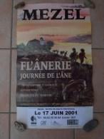 04 Mezel Affiche De La Journée De L' Ane 17 Juin 2001 - Posters