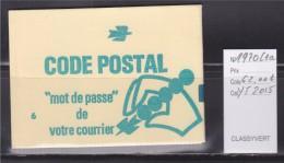 = Sabine De Gandon Carnet 1970-C1a Neuf 0.80 Vert Code Postal Un Trait Vert Sur Couverture - Usage Courant