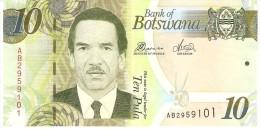BOTSWANA 10 PULA 2010 PICK 30 UNC - Botswana