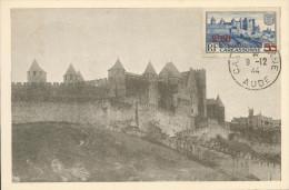 Carcassonne -  Surchargée 2,50 Fr - Maximum Cards