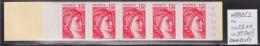 = Sabine De Gandon Carnet 1972-C2 Neuf Ouvert 1f00 Rouge  Code Postal Numéroté 44234 - Usage Courant