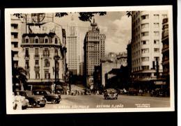 Brasil Sao Paulo Vintage Cars Modern Architecture Postal Tipo Foto Ca1940  Vintage Original Postcard Cpa Ak (W4_1003) - São Paulo