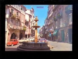ORENSE Galicia : Plaza De Hierro 1987 / Auto Seat (fiat) 600 Renault R8 R12/ Farmacia Amalla Rodriguez - Orense