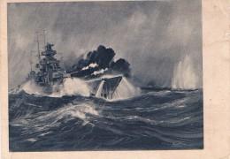 Combat Entre Le Cuirassé Allemand SCHARNHORST Et Le Croiseur De Bataille Anglais RENOWN Dans La Mer Du Nord - 2 Scans - Guerra