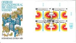 ONU 1980 - Wien -  Peace Operations  Mi. 11 Serie Cpl. 1v. In Quartina  Su  Buste FDC - FDC