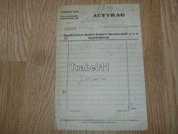 Saarbrücker Kaffee Import Gesellschaft Saarbrücken 1955 Rechnung Germany - Germania