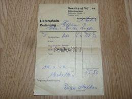 Bernhard Völger Kohlenhandlung Darmstadt Arheilgen 1952 Germany - Germania