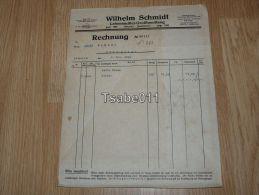Wilhelm Schmidt Lebensmittel Grosshandlung Ottweiler Rechnung 1936 Germany - Germania