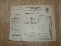 Armbrust Dudweiler Saar Rechnung  1953 Germany - Germania