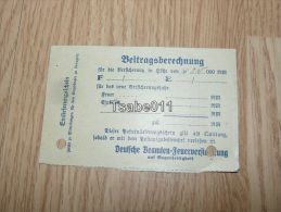 Berlin Lingen Beitragsberechnung 1936 Germany - Germania