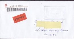 Spain EXPRÉS & Registered Certificado Labels MASPALOMAS Gran Canaria 2015 Cover Letra BRØNDBY STRAND Denmark - 1931-Heute: 2. Rep. - ... Juan Carlos I