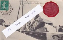 Rouen,grande Semaine Aviation,m Hanriot Sur Monoplan,cachet Cire Rouen 19,25juin 1910;rare - Rouen