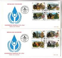 2 FDC Rwanda - Conférence Mondiale De L'Eau - 2/05/1977 (fleurs) - 1970-79: FDC