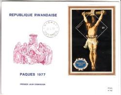 FDC Rwanda - Paques 1977 - 27/04/1977 - 1970-79: FDC