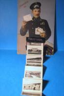 Riga Privjet Iz Rizkovo Vzmorja Postmen + 10 Small Pictures 1917 Latvia OLD POSTCARD 3 Scans - Lettonie