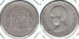ESPAÑA ALFONSO XIII 5 PESETAS 1890 MP M  PLATA SILVER. B - Sin Clasificación