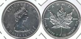 CANADA ONZA   5 DOLLARS 1988 PLATA SILVER - Bolivia