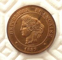 5 CENTIMES 1887 A HAUTE QUALITE - C. 5 Centesimi