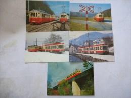 SUISSE CF à VOIE ETROITE  (75 Cm) : LIESTAL - WALDENBURG (WB) Lot 5 CPM  Divers éditeurs Avant 2000   Scans Recto-verso - Trains