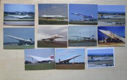 CXR SST Supersonic Lot 11 Carte Postcard Concorde Mucho Avion Aiplane Air France British Exeter - 1946-....: Moderne