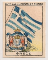 """Image Page 20 De L´album """"L´Europe"""". 1933. Chocolat Pupier. Grèce. Drapeau, Blason, Armoiries - Other"""